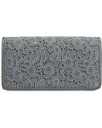 5dfc6f1078 Adrianna Papell Minaudiere Bow Clutch Bag in Black - Lyst