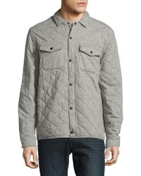 Lucky Brand - Quilted Snap-front Cotton Jacket - Lyst