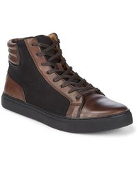 Kenneth Cole Reaction - Padded Leather Trainers - Lyst