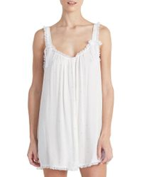 Rya Collection - Golden Lace-trimmed Chemise - Lyst