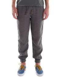 Original Paperbacks - Linen Trousers With Elasticized Cuffs - Lyst