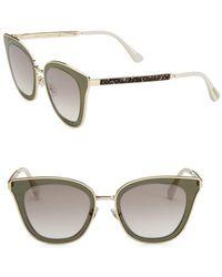 8d2ab98696c1 Jimmy Choo - 49mm Lory Transparent Cat Eye Sunglasses - Lyst