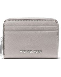 MICHAEL Michael Kors - Zip-around Leather Card Case - Lyst