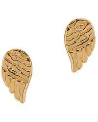 Lord & Taylor - 14k Yellow Gold Angel Wings Stud Earrings - Lyst