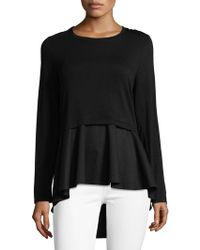 Kensie - Hi-lo Layered Top - Lyst