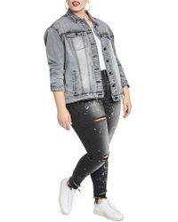 RACHEL Rachel Roy - Oversized Denim Jacket - Lyst