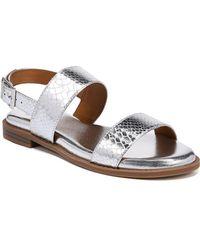 Franco Sarto - Velocity Metallic Snakeskin Print Sandals - Lyst