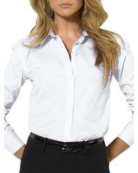Lauren by Ralph Lauren - Aaron Long-sleeved Classic Non-iron Shirt - Lyst