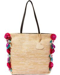 Betsey Johnson - Gypsy Floral Straw Tote - Lyst
