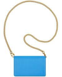 Anne Klein - Continental Chain Leather Wallet - Lyst