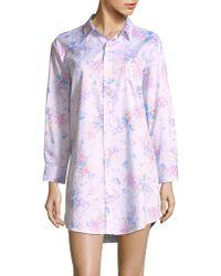 Lauren by Ralph Lauren - Cotton Floral-print Nightshirt - Lyst