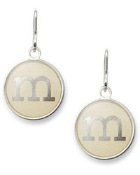 ALEX AND ANI - Initial Necklace Charm - Lyst