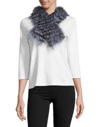Surell - Fox Fur Scarf - Lyst