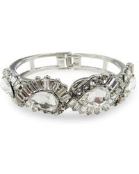 Belle By Badgley Mischka - Crystal-embellished Cuff Bracelet - Lyst
