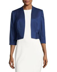 Phase Eight - Ruffled Open-front Blazer - Lyst