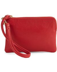 Lord & Taylor - Small Leather Wristlet - Lyst