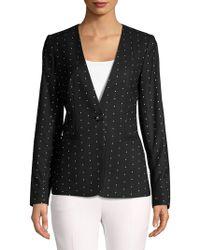 Donna Karan - New York Polka Dot Print Jacket - Lyst