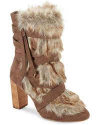 Charles David - Alberta Faux Fur-trimmed Booties - Lyst