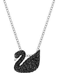 Swarovski - Iconic Swan Pendant Necklace - Lyst