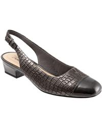 Trotters - Dea Embossed Slingback Court Shoes - Lyst
