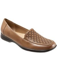 Trotters - Jenn Metallic Leather Laser Cut Out Loafers - Lyst