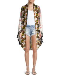 Free People - Bali Wrapped In Blooms Shawl Cardigan - Lyst