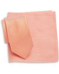 Tallia Orange | Tie And Pocket Square Set | Lyst