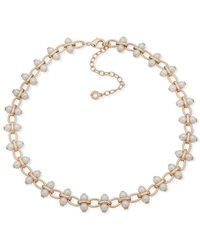 Anne Klein - Faux Pearl-embellished Collar Necklace - Lyst