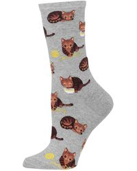 Hot Sox - Novelty Cat And Yarn Crew Socks - Lyst