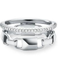 Michael Kors - Mercer Link Double Barrel Ring - Lyst