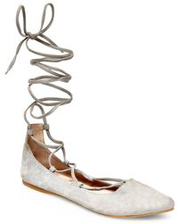 Steve Madden - Eleanorr Suede Flats - Lyst