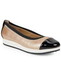Adrienne Vittadini - Gilsa Leather Slip-on Sneakers - Lyst