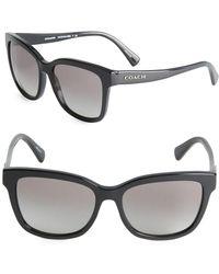 COACH - 56mm Wayfarer Sunglasses - Lyst