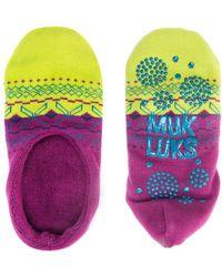 Muk Luks - Ballerina Slipper Socks - Lyst