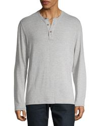 Surfside Supply - Heathered Henley Top - Lyst