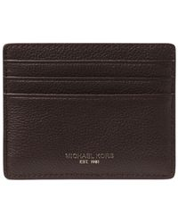 Michael Kors - Bryant Pebbled Leather Tall Card Case - Lyst