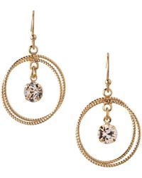 BCBGeneration - Orbital Crystal Two-circle Dangle & Drop Earrings - Lyst