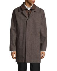 e6df197ff Lauren by Ralph Lauren Wool Chesterfield Coat in Black for Men - Lyst