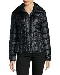 Kenneth Cole - Ruched Filled Puffer Jacket - Lyst