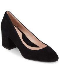 Taryn Rose - Rochelle Suede Court Shoes - Lyst