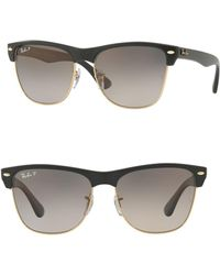 Ray-Ban 57mm Oversized Clubmaster Sunglasses