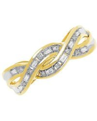 Lord & Taylor - Diamond And 14k Yellow Gold Crossover Ring - Lyst