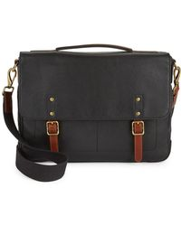 Fossil - Classic Leather Satchel - Lyst