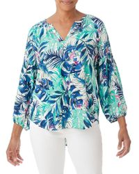 Olsen - Tropical Dream Printed Blouse - Lyst