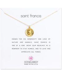 Dogeared - Reminder Saint Francis Sterling Sliver Pendant Necklace - Lyst