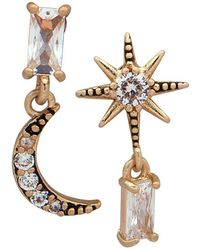 Lonna & Lilly - Mis-match Goldtone Star & Moon Earrings - Lyst