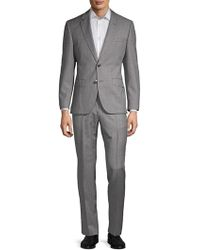 241a2a0cb HUGO Slim-Fit Suit 'Aiko1/Heise' In New Wool in Gray for Men - Lyst