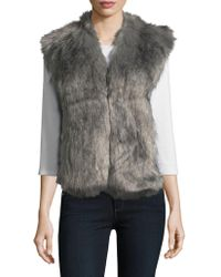 Love Token - Faux Fur-trimmed Vest - Lyst