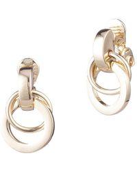 Anne Klein - Goldtone Hoop Earrings - Lyst