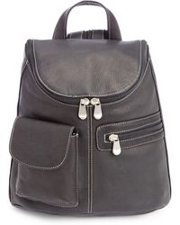 Royce - New York Leather Tablet Backpack - Lyst
